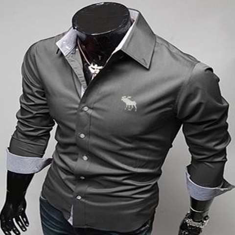 Camisa Casual Slim Fit Aber