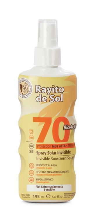 Spray Solar Invisible FPS 70 x 195 ml- Atomizador!