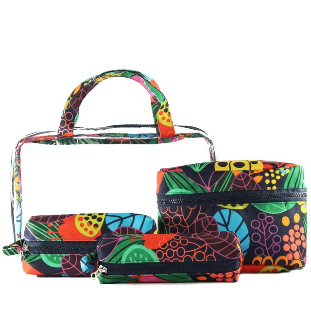 KIT NECESSAIRE MALETA FLORAL COLOR na internet