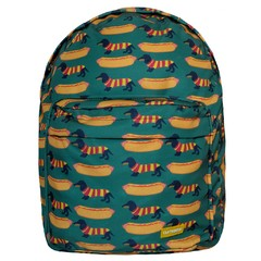 MOCHILA GRANDE HOT DOGS + ESTOJO HOT DOGS