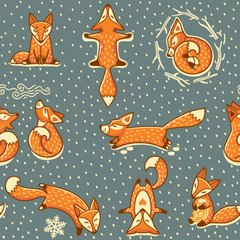 Imagem do MOCHILA GRANDE FOX IN THE SNOW + ESTOJO FOX IN THE SNOW