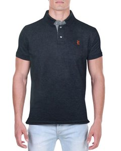 Camisa Polo RGW Cinza Mesclada 4890 Slim Fit