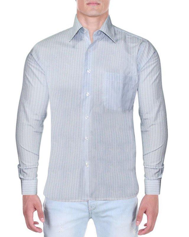 Camisa Social Verti Listrada Azul 2674315e14f