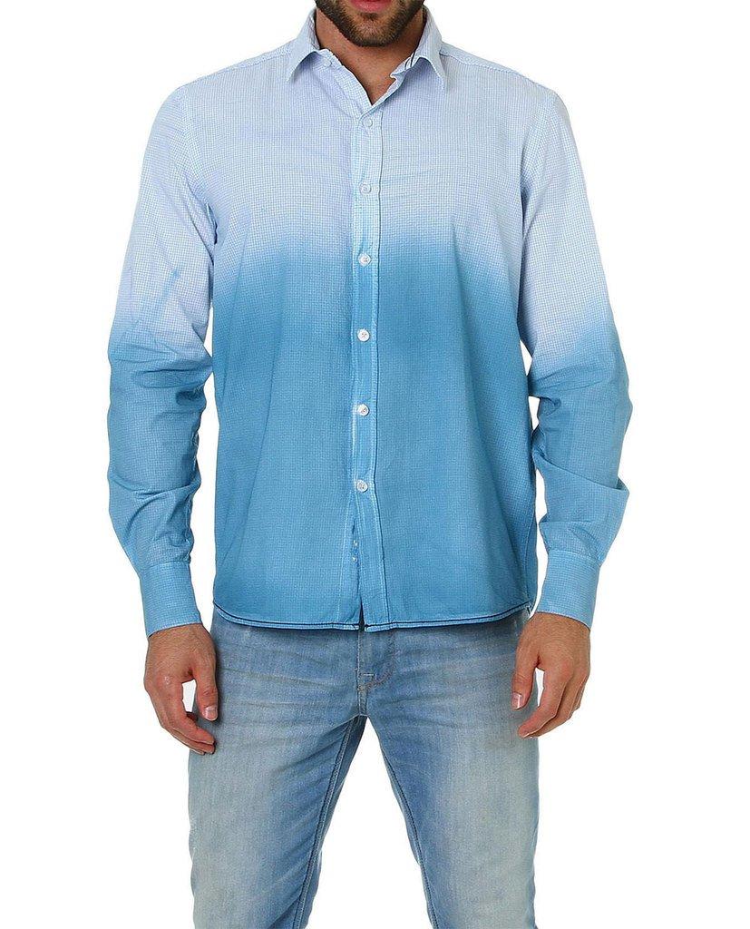 8642bad81e Camisa Slim Fit Azul   Branca Vip Reserva
