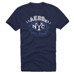 Camiseta Slim Fit Aerox Fit NYC Azul