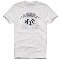 Camiseta Slim Fit Aerox Fit NYC Branca