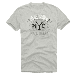 Camiseta Slim Fit Aerox Fit NYC Cinza