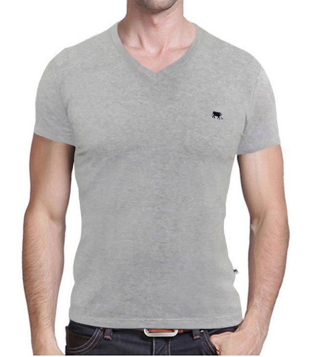 ddd3dcd1ed Camiseta Gola V Básica Martt Cinza - Compramais.com.br