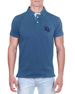 Camisa Polo RGW Azul Rally 2919 Slim Fit