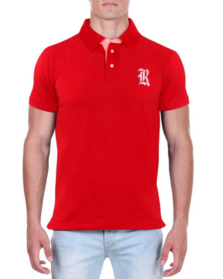 Camisa Polo RGW Vermelha 4014 Slim Fit