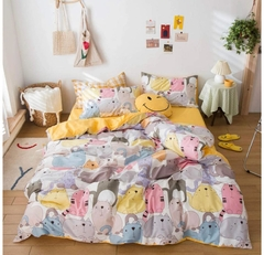 Tendido Duvet Gatos Colores