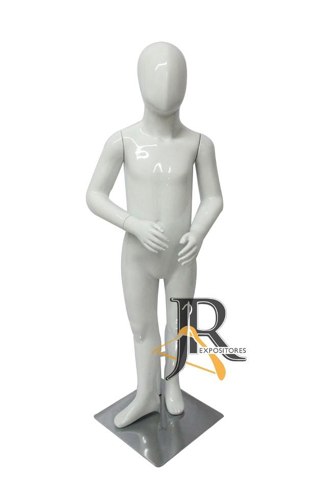 e5b641d4f Manequim Unisex Infantil de Fibra Pose 02 Branco Envernizado