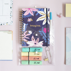 Set: 4 Resaltadores + Cuaderno A5 + Cuaderno Punteado More Self Love en internet
