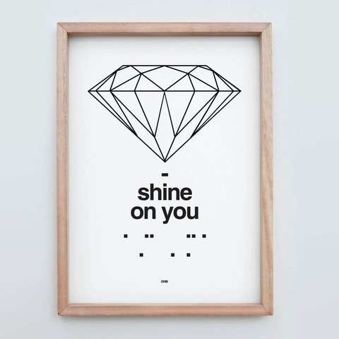 Cuadro Shine on you - comprar online