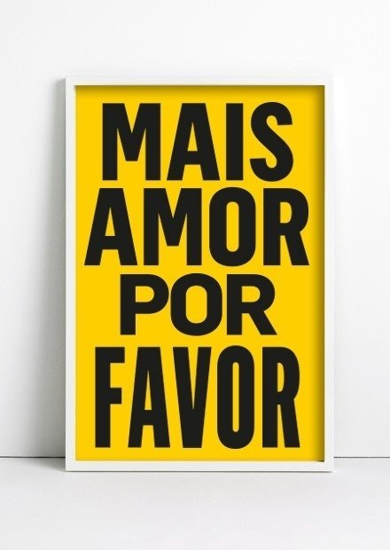 Cuadro Mais Amor Por Favor Color
