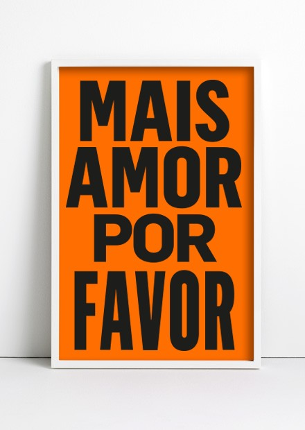 Cuadro Mais Amor Por Favor Color en internet