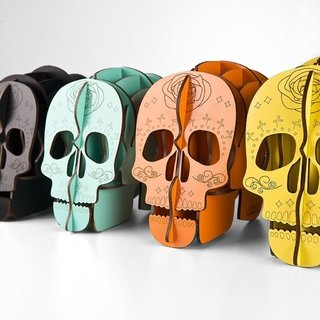 Portalapices Calavera MDF color