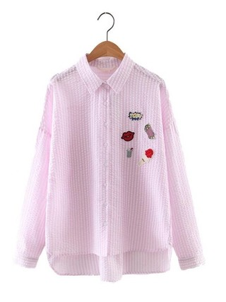 Imagem do Camisa com Patches Manga Longa - Ref.1036