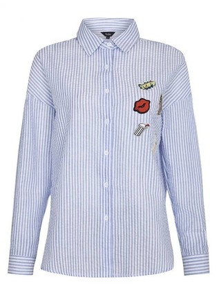 Camisa com Patches Manga Longa - Ref.1036 - DMS Boutique