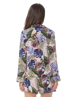 Camisa Feminina Estampa Tropical 1