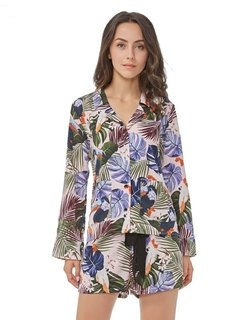 Camisa Feminina Estampa Tropical