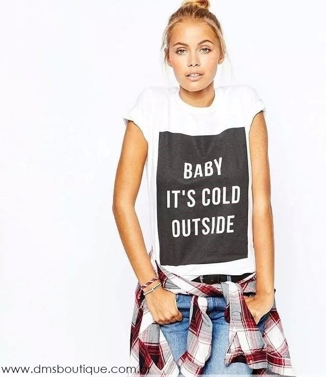 Camiseta Baby It's Cold Outside - Ref.614