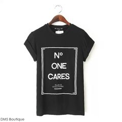 Camiseta No One Cares  preta