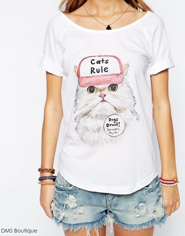 Camiseta Cat Rule - Ref.430