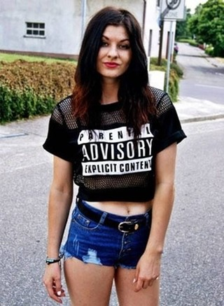Cropped Top Parental Advisory
