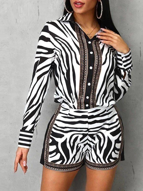 Conjunto Estampa de Zebra   DMS Boutique