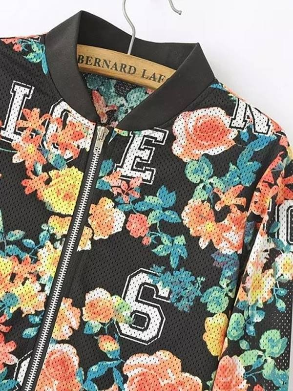 Jaqueta Bomber Floral College - Ref.078 - loja online