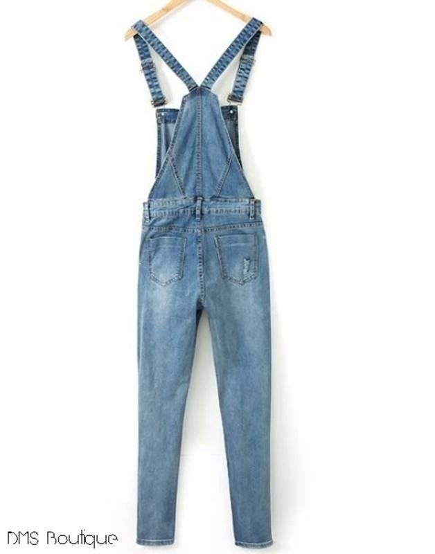 ebb3995f4 Jardineira Jeans Feminina - DMS Boutique