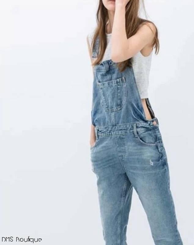 jardineira jeans feminina dms boutique