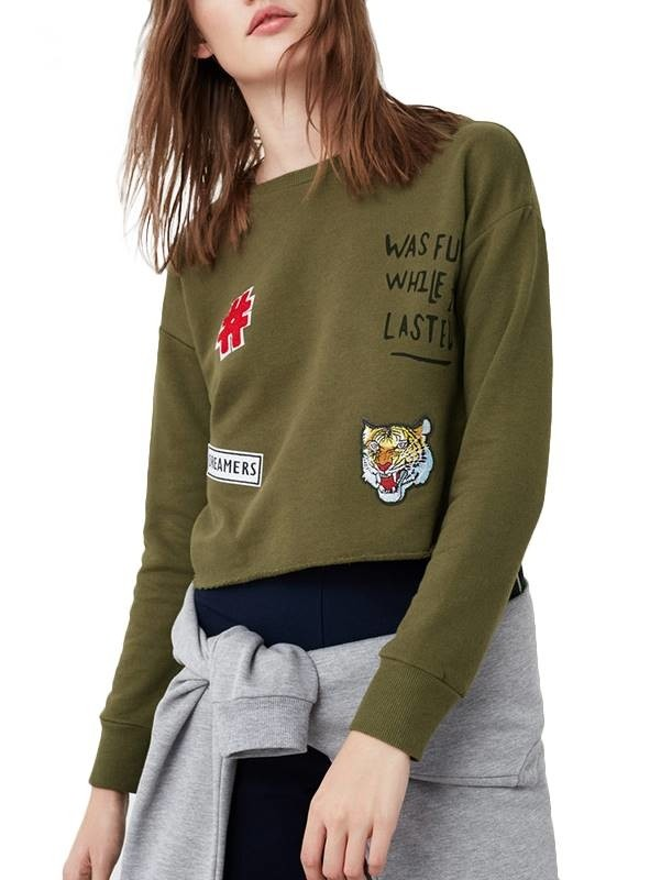 Blusa de Moletom com Patches - Ref.051