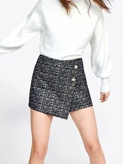Short Saia Estampa Tweed  1