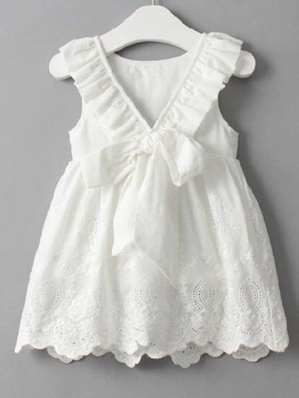 d5790cf7ee Vestido Branco Infantil Laço