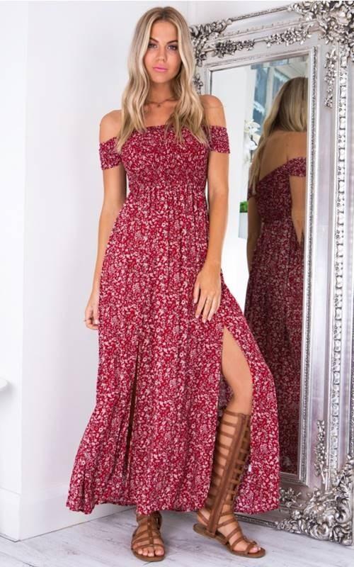 Vestido Longo Floral Mi 250 Do Compre Online Dms Boutique