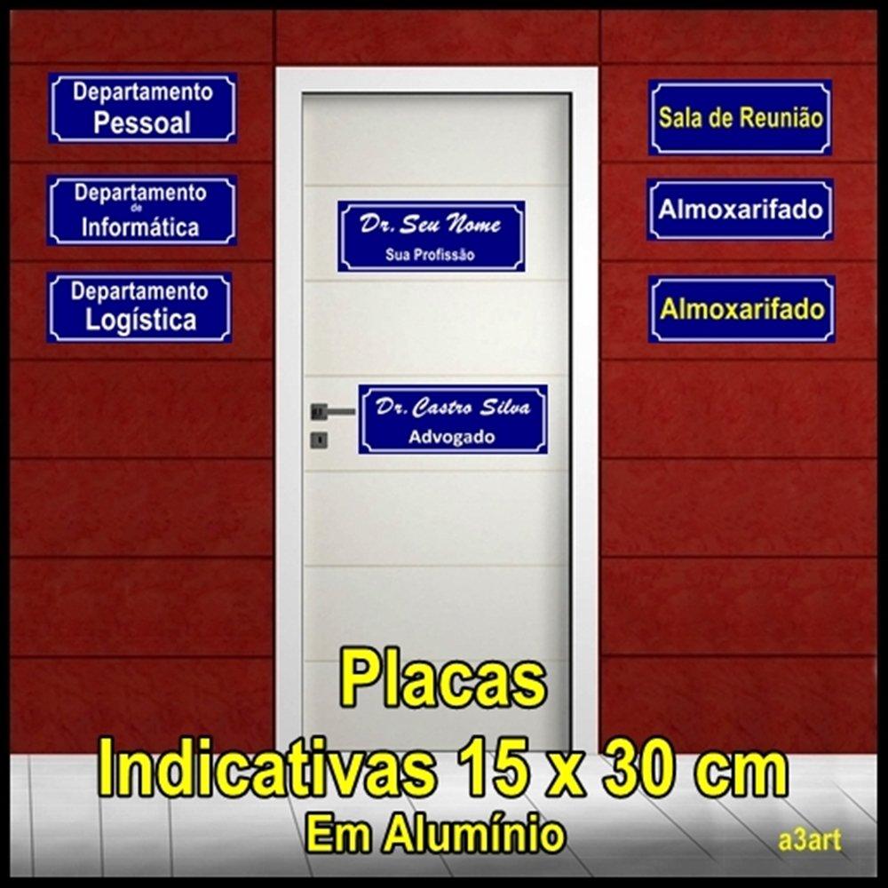 Placa em alum nio placas para sinaliza o - Placa de aluminio ...
