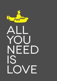 "Lamina ""All you need is love"""
