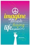 "Tarjeta ""Imagine all the people Living life in peace... "" (John Lennon)"