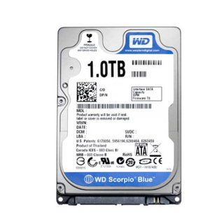 HD 1 TB P/NOTEBOOK WD S-ATA III 5400 8MB - 9MM (OEM)