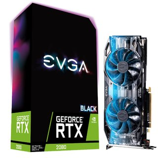 PLACA VGA 8GB RTX 2080 EVGA BLACK EDITION GAMING