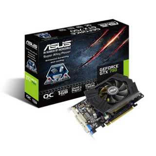 PLACA VIDEO 1GB GTX  ASUS GTX750-PHOC-1GD5 - comprar online