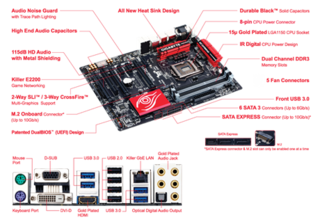 MOTHERBOARD GIGABYTE S1150 GA-Z97X-GAMING 5 ATX BOX en internet