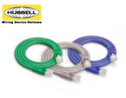 PATCHCORD HUBBELL 10G SHD PC6A GY 0.5 MTS