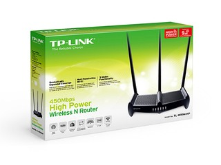 ROUTER 4P TP-LINK WR941HP N450 HIGH POWER 3X9DBI - comprar online