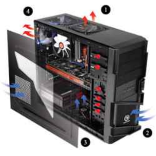 GABINETE GAMER THERM TT COMMANDER S/FUENTE