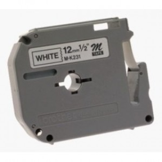 CINTA BROTHER MK231 PT65/70/80/90 12MM NEGRO/BLANCO - Uno Informática Ecommerce