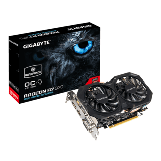 PLACA VIDEO VGA 2GB R7 370 OC GIGABYTE WINDFORCE - comprar online