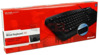 TECLADO MICROSOFT WIRED 200 - comprar online
